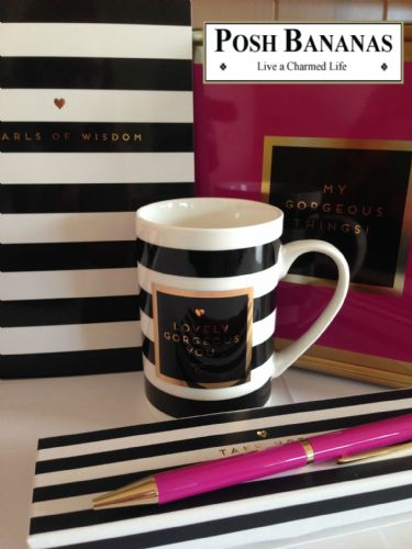 Inspirational Student Office and Graduation Gift Set 'Lovely Pearls Of Wisdom - Notebook, Pen, Mug & Tin Desk Set